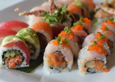 Mixed sushi platter available from The Fish Restaurant and Bar. Midtown Houston.